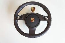Porsche 991 981 Volante Multifuncional pdk Cuero Espresso lr36 O AIRBAG
