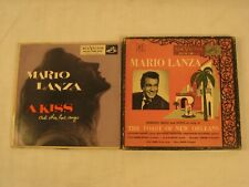 MARIO LANZA 45 RECORDS A KISS & TOAST OF NEW ORLEANS 7 REOCRDS