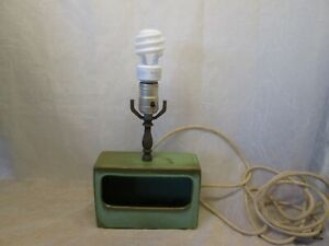 FRANKOMA Art Pottery Prairie Green Vintage Planter Electric Lamp
