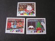Canada, Scott # 1067-1069(3),1985 Christmas Issue Mnh