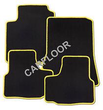 Für Ford S-Max Bj. ab 01.2016 Fußmatten Velours schwarz mit Rand gelb