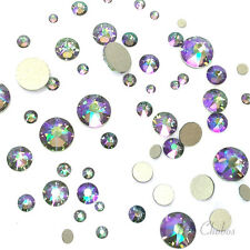 144 Mixed Sizes Swarovski 2058/2088 Flatbacks CRYSTAL PARADISE SHINE (001 PARSH)