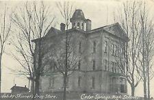 Cedar Springs MI Open Belltower @ High School~Skinners Drug Store Publisher~1908