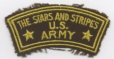 WWII English-Made Stars & Stripes Correspondent Shoulder Patch