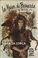 FEDERICO GARCIA LORCA LA MAISON DE BERNARDA SUIVI DE LES NOCES DE SANG