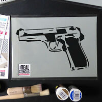 Gun Stencil Reusable Ideal Stencils for Home Decor Art Craft Painting many sizes