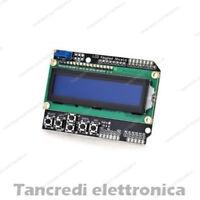 Modulo display LCD 16x2 1602 con tastiera keypad retroilluminazione BLU arduino