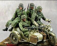 Kit de Figuras 1/35 Escala Sin Pintar Resina Segunda Guerra Mundial German motorizados tropas (4 Figuras)