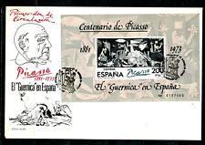 "ESPAÑA SOBRE MATASELLOS ESP. BARCELONA 1981 PICASSO EL "" GUERNICA "" S.F.C. A-573"