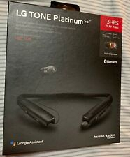 Novo LG Tone Platinum SE HBS-1120 Fone De Ouvido Bluetooth Harmon Kardon Preto MSRP $200