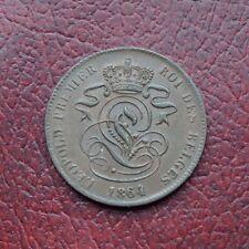 Belgium 1864 copper 2 centimes