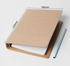 A5 Kraft cover Notebook Inner 80 Sheets Loose-leaf White paper Spring Binder
