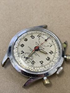 1930s/40s PIERCE  CHRONOGRAPH 17 JEWELS WRISTWATCH REPAIRS 37mm
