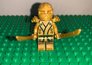 Lego Ninjago Gold Lloyd Golden Ninja 2 golden swords Authentic