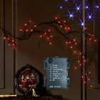Fudios Lighted Halloween Black Garland with 48L Orange and Purple Lights for Man