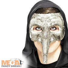 Venetian Capitano Masquerade Mask Mens Halloween Fancy Dress Adult Costume Mask
