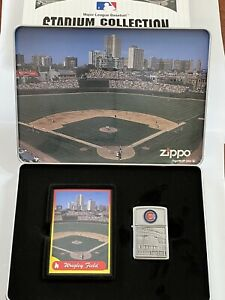 ZIPPO Stadium Collection Wrigley Field CHICAGO CUBS 1 Of 3000 Lighter Card Sets