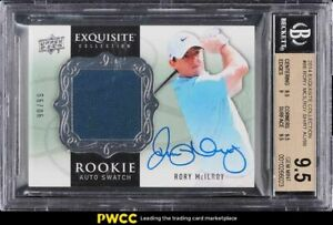 2014 Exquisite Collection Rory McIlroy ROOKIE RC PATCH AUTO /99 #86 BGS 9.5 GEM