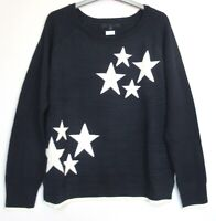 New Next navy star print Cosy Jumper top - Size 8 - 20