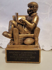 FANTASY FOOTBALL TROPHY AWARD FOOTBALL ARMCHAIR QUARTERBACK- FREE ENGRAVING!