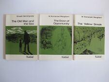 Konvolut 3 Taschenbücher Englisch hueber Sprachen der Welt The old man ... K0964