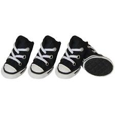 Small Dog Shoes Black Sneaker Boots Rubber Grip Booties Canvas Converse Style