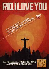Rio, I Love You/Eu Te Amo (DVD, Brazil, Portuguese w/ English subtitles, 2016)