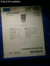 Sony Service Manual SRF M95 PLL Synthesized Receiver (#5242)