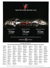 2006 Pontiac torrent Solstice G6 -  Original Car Advertisement Print Ad J148
