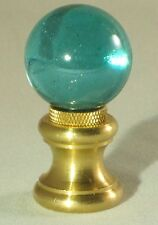 LAMP FINIAL-GLASS ORB LAMP FINIAL-TEAL