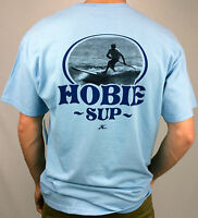 HOBIE by HURLEY. SUP GLIDE 100% Cotton Men's T-Shirt. BLUE & WHITE. S, M, L & XL