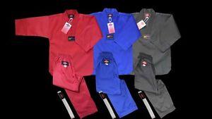KANKU new Taekwondo Uniforms Blue Red Black 7.5oz Adult and Kids WTF