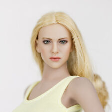 Rare 1/6 Scale Elegant Blondie Sex Girl Head Sculpt For Phicen Hot Toy Body