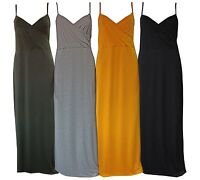 Womens Ladies Boohoo Style Sleeveless Caggie Wrap Front Strap Maxi Dress G1015