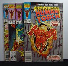Saga of the Original Human Torch #s: 1,2,3,4 (Marvel, 1990) Lot, Set Avengers WC