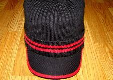Black/Red  Kangol  Ribbed Peak Pull-On Cap Style  K3012SP