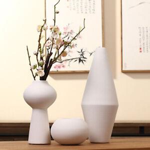 White Ceramic Vases Ikebana Flower Art Vase Japanese Tabletop Meditation Vase