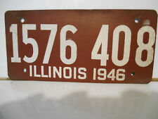plaque immatriculation usa illinois 1946 license plate old ancienne