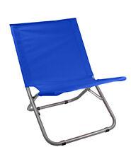 Spiaggina in metallo e acciaio pieghevole per mare spiaggia piscina sdraio blu