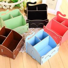 Cute Cat Wooden Storage Box Jewelry Foldable Desktop Container Cosmetics Case