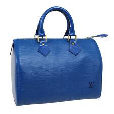 33481LOUIS VUITTON SPEEDY 25 HAND BAG SP0967 PURSE BLUE EPI LEATHER M43015 33481