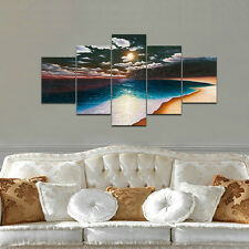 Canvas Print Abstract Seascape Beach Painting Picture Home Decor Wall Art Framed