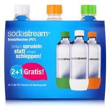 SodaStream PET Ersatz-Flaschen 2+1 orange/grün/weiß 3x1 Liter (1er Pack)