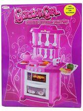 Le Ragazze Glitter Da Cucina Playset Giocattolo con Accessori Bambini Set Gioco Festa
