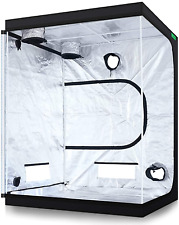 "VIPARSPECTRA 60""x60""x80"" Reflective 600D Mylar Hydroponic 5'x5' Grow Tent for In"