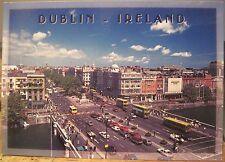 Irish Postcard O'CONNELL BRIDGE Statue Buses Dublin Ireland O'Toole Hinde 2/49