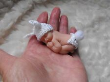 OOAK  miniature BABY DOLL  Bunny  2 inch/5cm polymer  clay  by HARRY