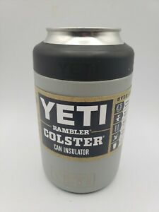 Yeti Rambler Colster Coozie Can Insulator Stainless Steel 12oz granite gray