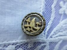 """6603 – Small Ivoroid Antique Button with Trees Motif, 9/16"""""""