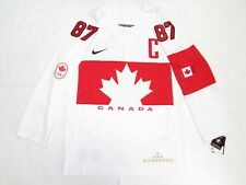 SIDNEY CROSBY TEAM CANADA WHITE SOCHI 2014 OLYMPICS NIKE HOCKEY JERSEY SZ SMALL